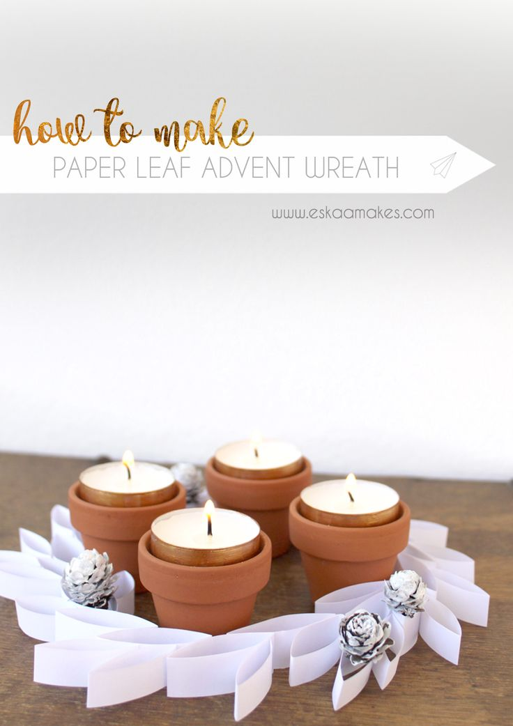Try something different this year. Make this easy DIY paper leaf advent wreath to give your Christmas decoration a modern touch.