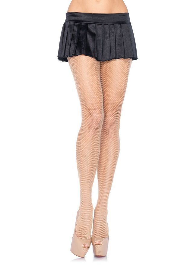 black footless fishnet tights one size