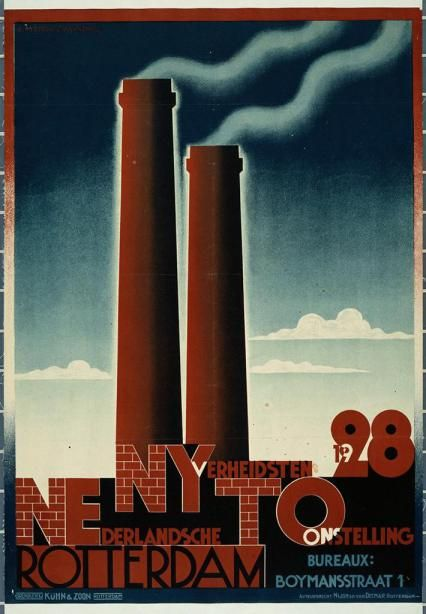 MOMA_200002. Nederlandsche NYverheidsten TOonstelling (Exposición Industrial holandés)  por AM Cassandre  1928