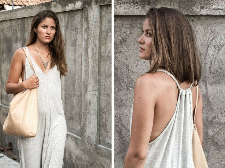 Simple, chic but with a wow factor. The 'Christa' Dress is loose fitting, flowy and extremely comfortable. With thin straps that gathered at the back and a flattering v-neck, this is the dress for weekend adventures. Teamed with our Bandeau underneath for a finishing touch. Available in Black Slub and Stone. AUD $79.90 | #buddhawear #womensfashion  www.buddhawear.com.au
