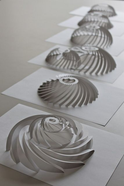 It is interesting what you can form by just cutting the paper.