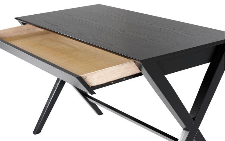 Ritter skrivebord sort lukket