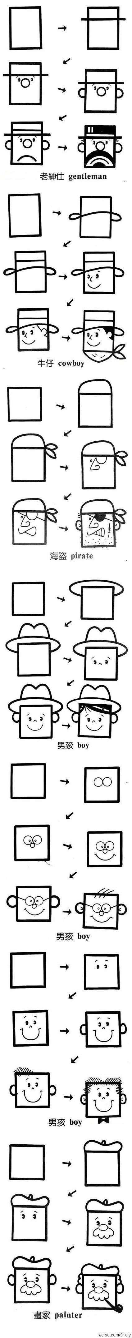 How To: Draw Silly Faces, Including a Pirate! #DIYfun