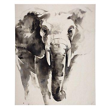 Watercolor Elephant | Canvas | Art-by-type | Art | Z Gallerie
