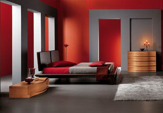 astonishing red white modern bedroom | 13 best Red Bedroom images on Pinterest | Bedrooms, Red ...