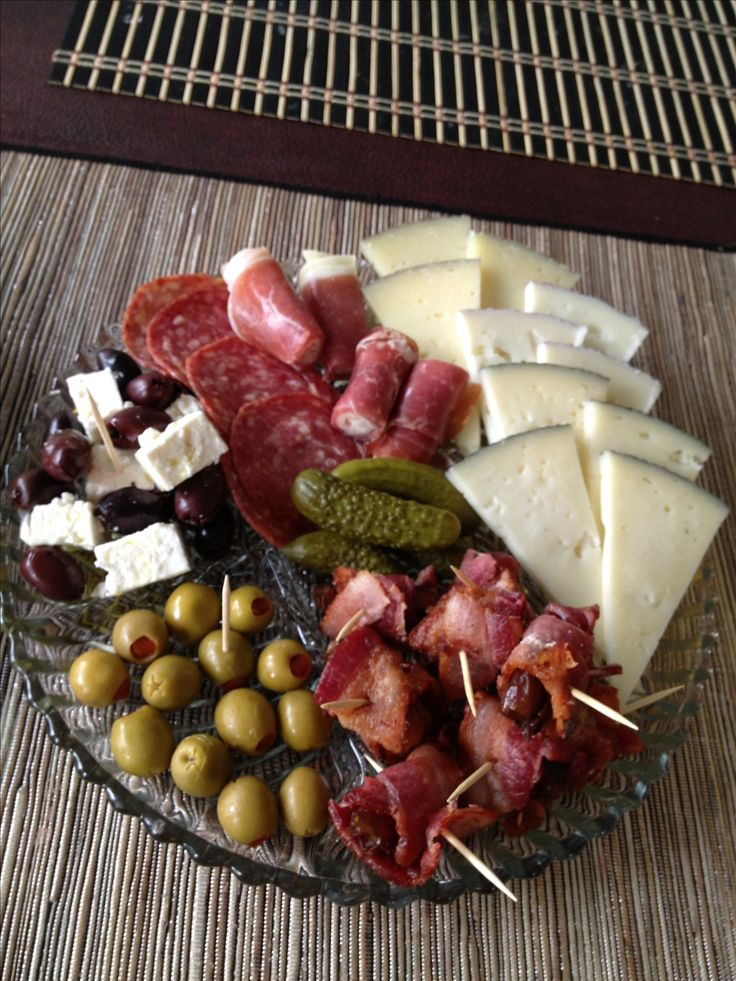 Have to have a plate of cured meats, cheese and olives.