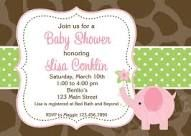 elephant baby shower invitation - Google Search