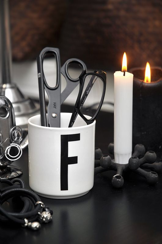 Many ways to use the Design Letters + Arne Jacobsen cups.