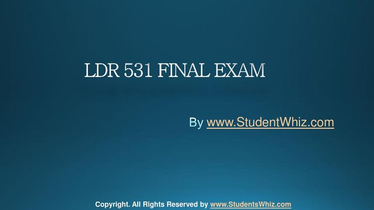 www.StudentWhiz.com University of Phoenix Latest Tutorials LDR 531 Final Exam Questions Answers and Entire Course. To Download Now http://goo.gl/BHmMa7
