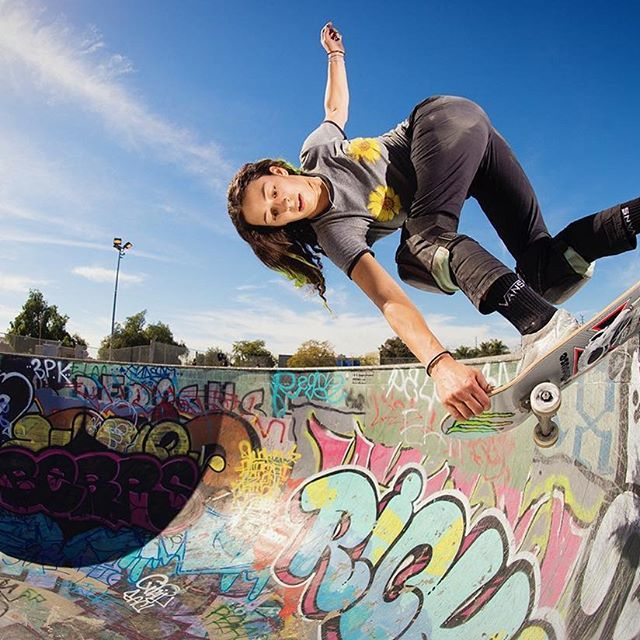 Such a killer shot of Vans Skate's Lizzie Armanto in the May issue of Thrasher Magazine. : @burnout