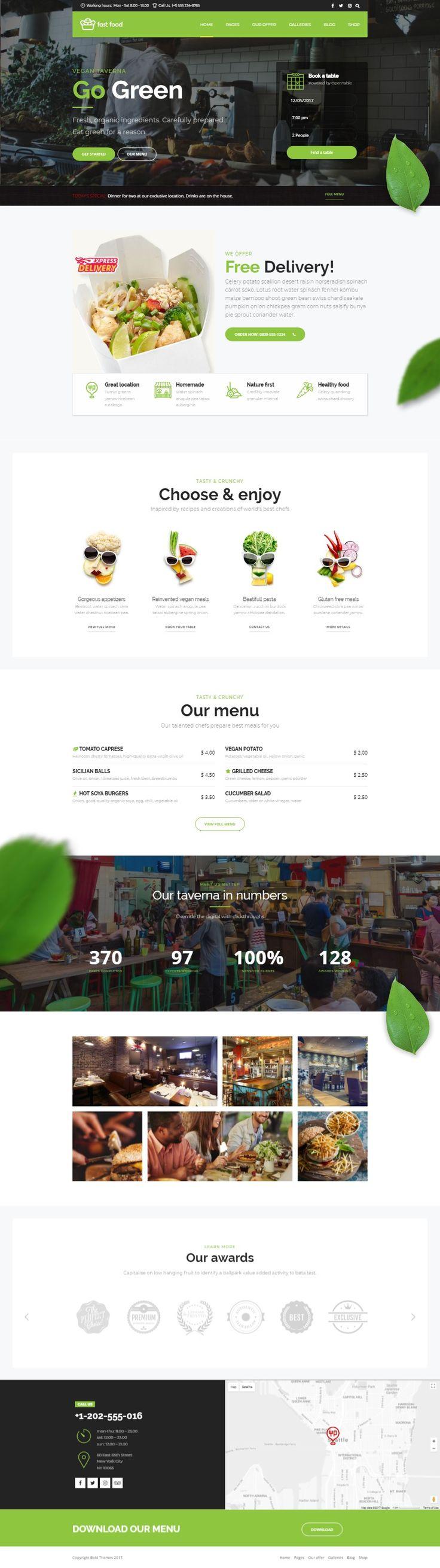 Captivating Fast Food   WordPress Fast Food Theme Nice Look