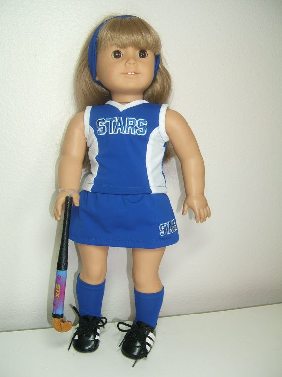Omg! A field hockey outfit???????!??!I used to love American girl dolls....and I think I love them again! I want this outfit for my old dolls!! O my goshhhh . Vicky look!!! @Victoria Muro