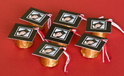 Personalized Mortarboard Candy Favors – Edible Crafts