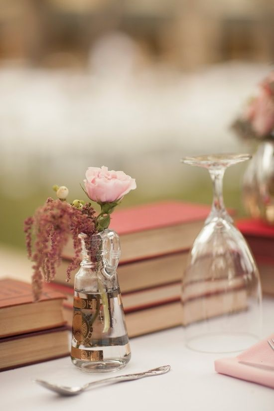 Table decor perfect for a vintage inspired wedding.