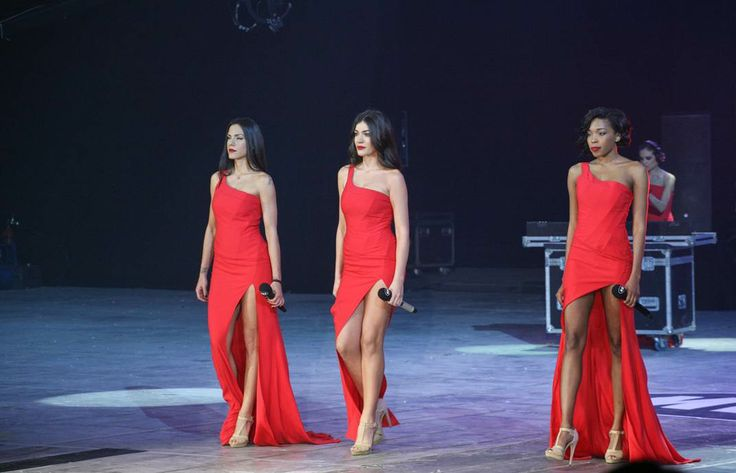 Ivi Adamou, Elissavet Spanou & Courtney Parker walking down the runway in their #RedDress by #BSB & #CocaColalight   photo credits: studio panoulis