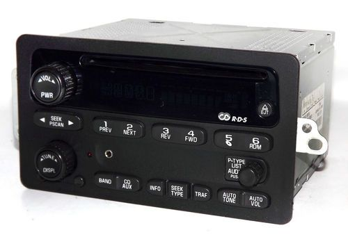 Chevy GMC 2001-2003 S10 Truck & Van AM FM CD Radio w Aux mp3 iPod Input 15091316