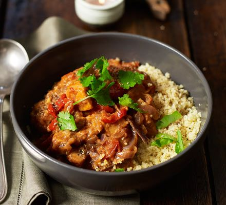 Sweet potato & coconut curry. Prep your veggies and let the slow cooker do the work with our filling sweet potato curry