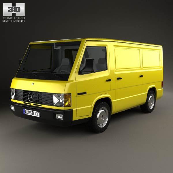 Mercedes benz mb100 panel van 1988 3d model from humster3d for Mercedes benz panel van