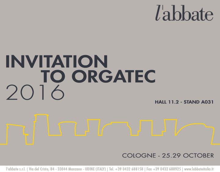 INVITATION - Orgatec 2016.