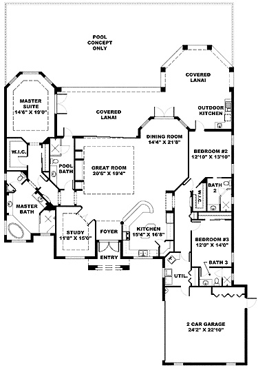 Home Plans Kitchen Front House