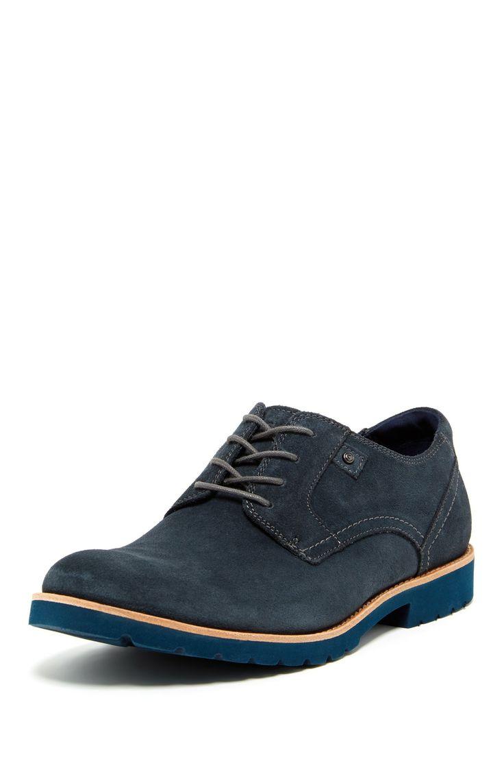 Ledge Hill Plain Toe Suede Lace-Up Shoe