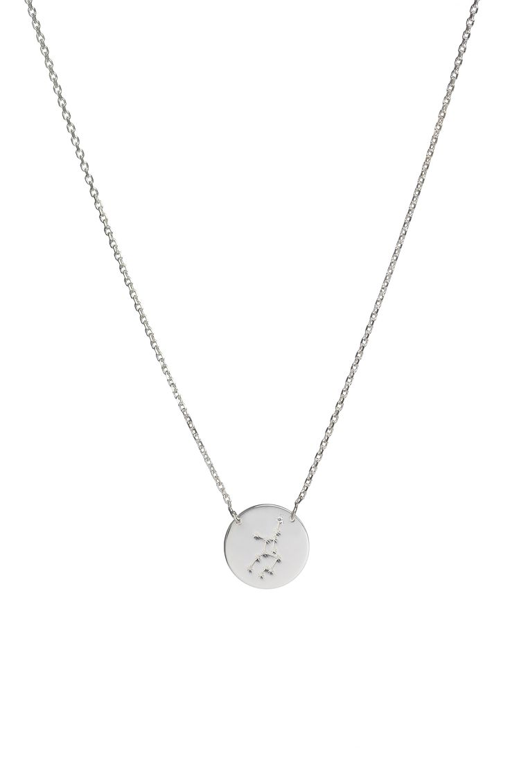 Virgo constellation necklace in 14k gold and a diamond. August 23 to September 22.  Available in white or yellow gold. Free personalized engraving on the back of the pendants. Shop the collection at www.reena.ro or order directly at reena.orders@gmail.com.