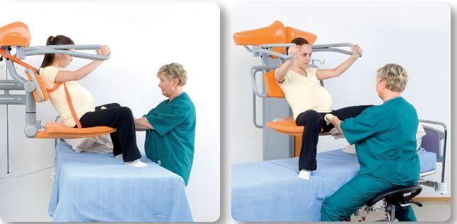 La silla de partos vertical ha llegado a España