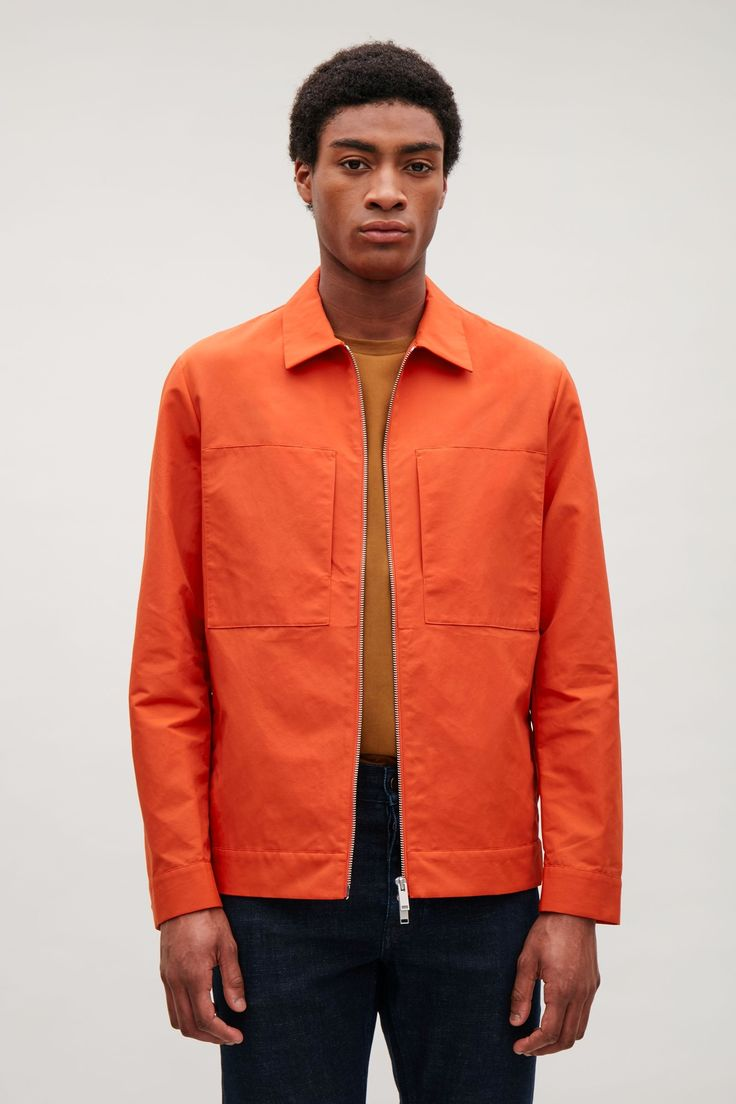 COS image 2 of Technical zip-up overshirt  in Red