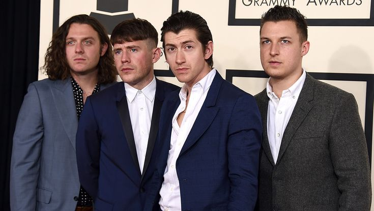 Arctic Monkeys on the red carpet at the 57th GRAMMY Awards