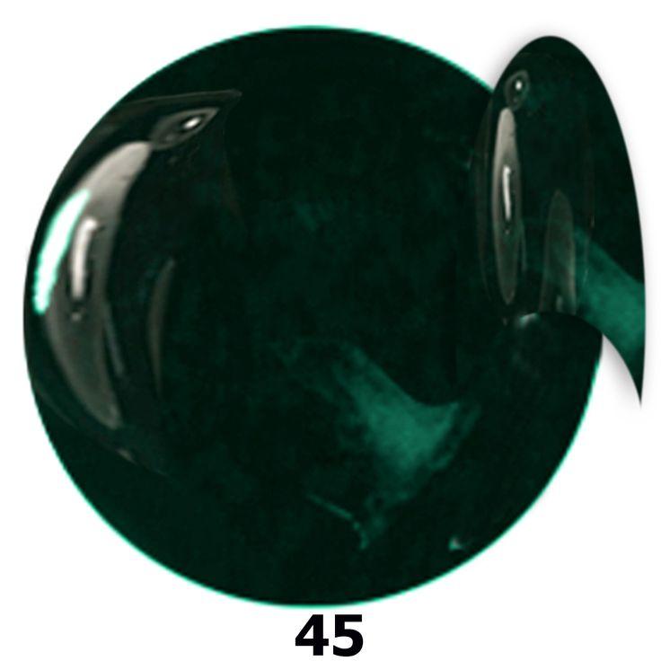 45. NTN Lakier żelowy UV - Blackblue -  Czarno Niebieski - 6ml