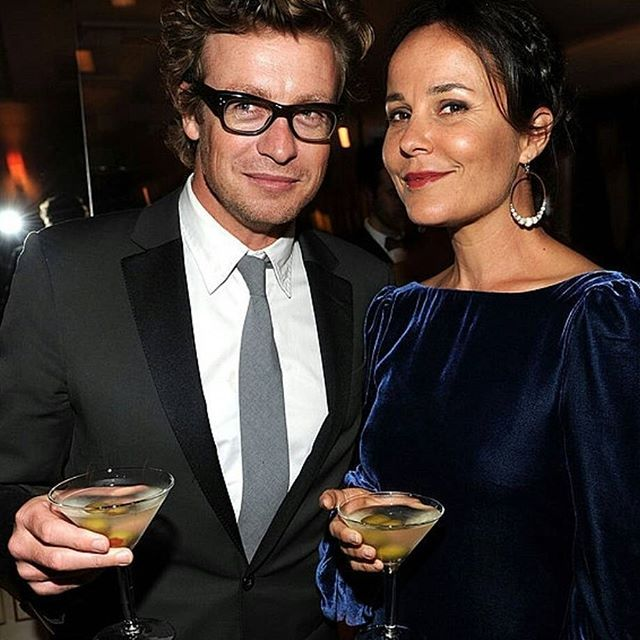 Simon Baker and Rebecca Rigg at the Vanity Fair Oscar Party on March 7, 2010 in West Hollywood, CA