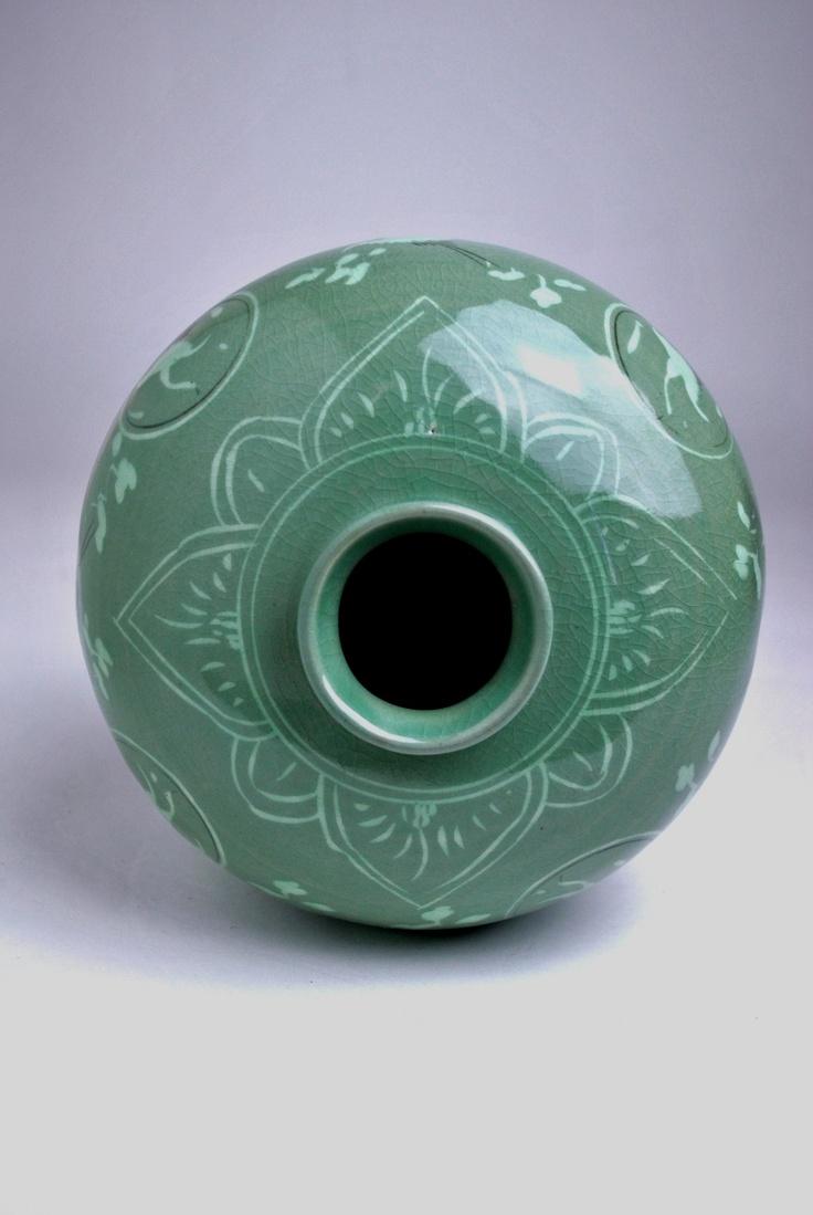 89 best celadon images on pinterest ceramic art ceramics and korean celadon inlaid designs vase cheongja sanggam unhak mun maebyeong reviewsmspy