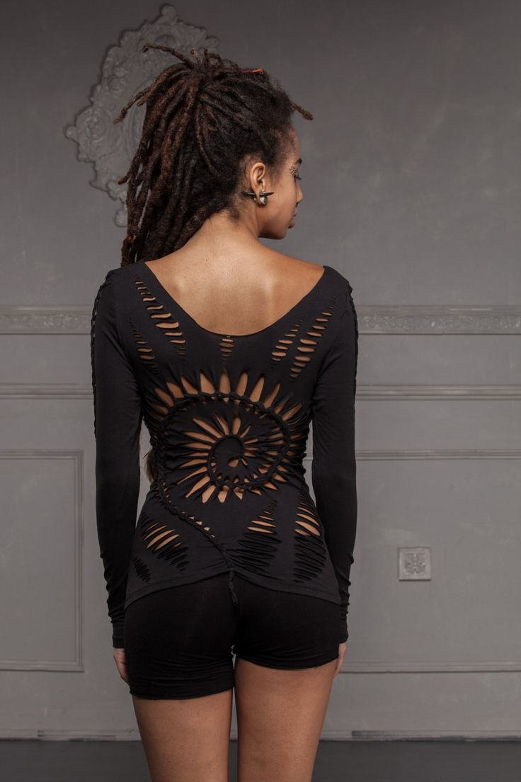 Spiral Braided Top with Feather  Handmade Tribal by ShambaWear, £28.00