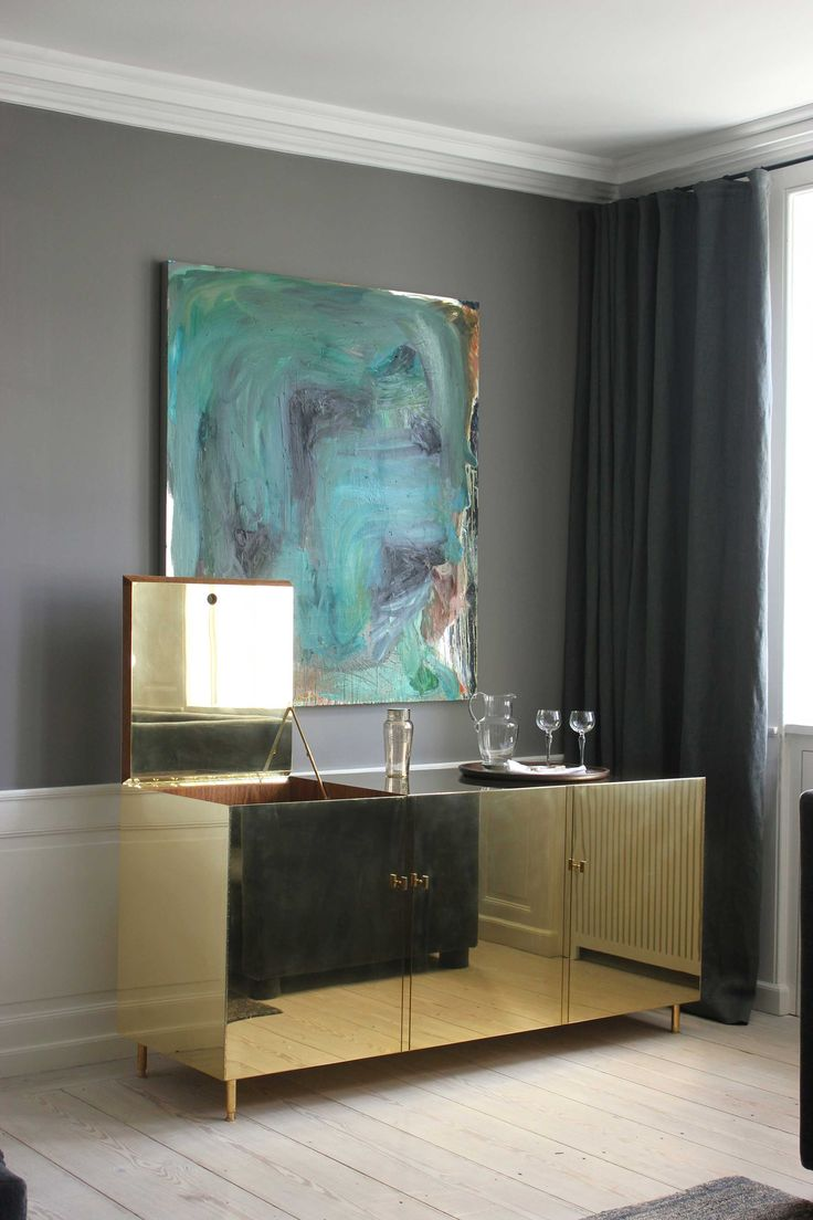 Brass sideboard. Golden details. Entryway decor ideas. Luxury furniture. Interior design, interiors, decor. Take a look at: www.bocadolobo.com