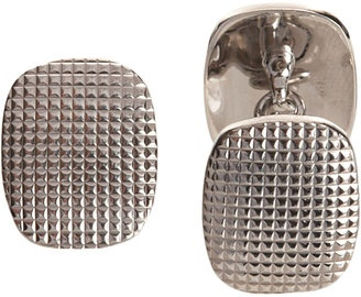 Paul Longmire - Silver Hobnail Cufflinks - $315.00 - Click on the image to shop now: Technical British, Paul Longmir, Silver Hobnail, Hobnail Cufflinks