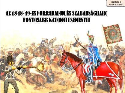 1848-49 fontosabb katonai eseményei