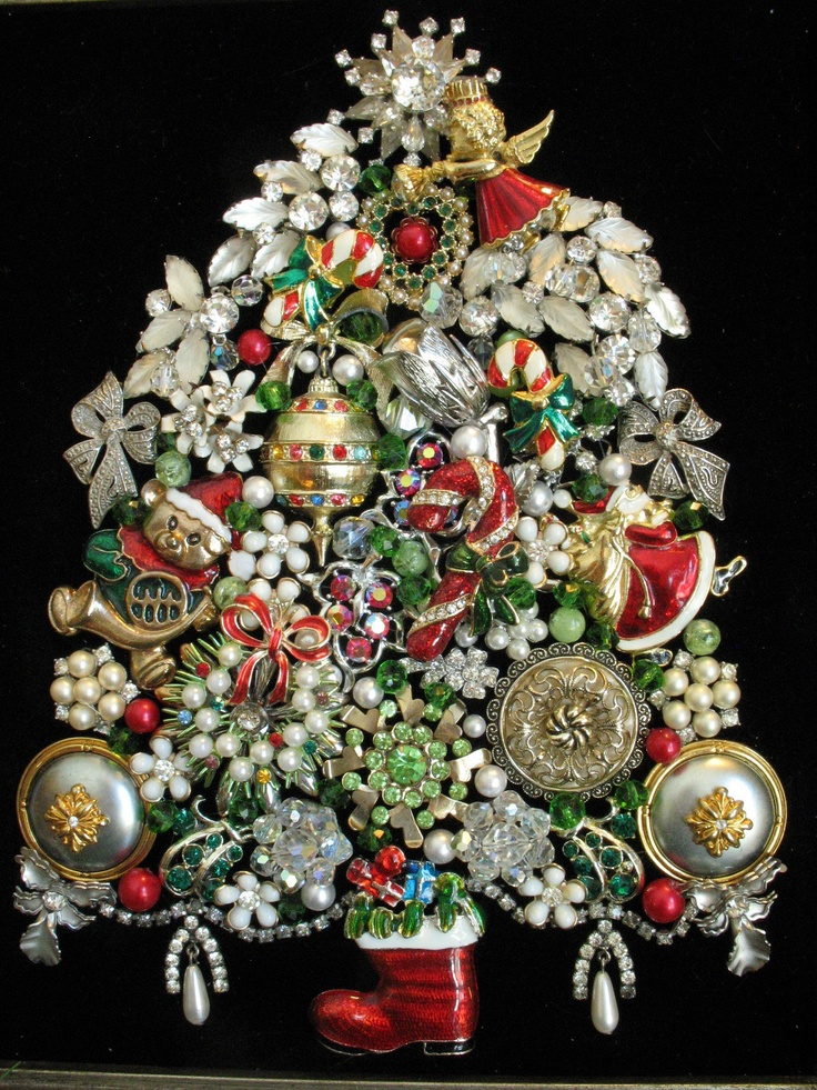 74 Best Images About Vintage Jewelry Christmas Trees By