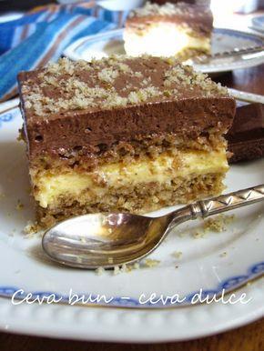Adela Zilahi: Prajitura cu migdale, crema de vanilie si cacao