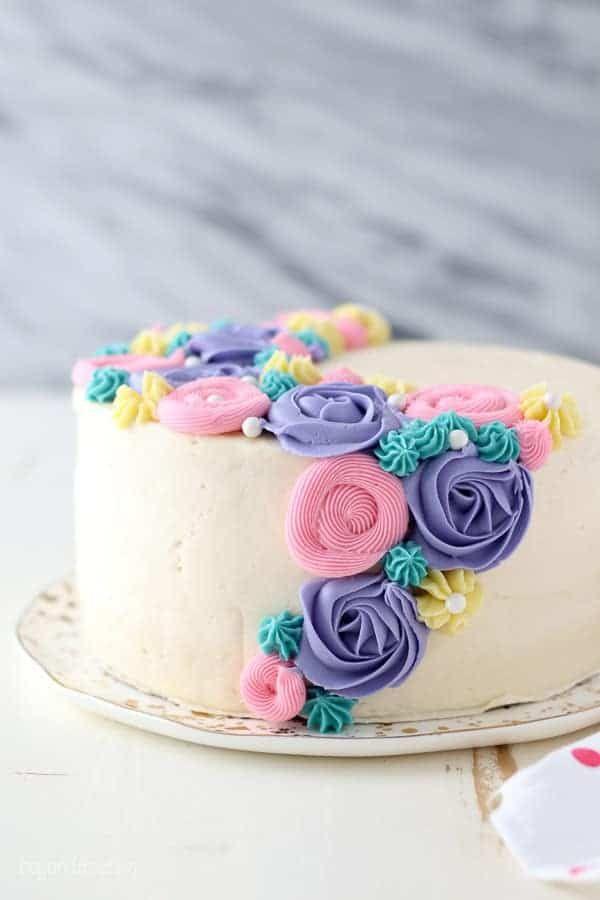 How To Make Buttercream Frosting Easy Homemade Recipe Recipe Buttercream Cake Decorating Butter Cream Spring Cake