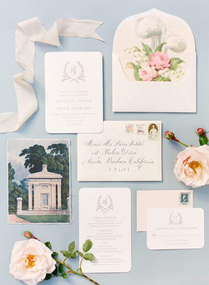 Theme with monogram logo   2015 Bridal Horoscopes – Aquarius Floral Wedding Invitation Suite by @littlemisspress // photo by @ktmerry, styling by @joydevivresb