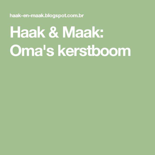 Haak & Maak: Oma's kerstboom