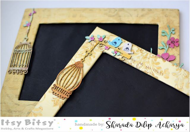 Itsy Bitsy - The Blog place: Handmade Photo frame with Chipboard elements