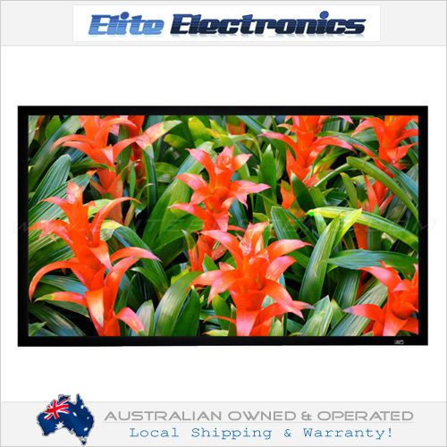 ELITE SCREENS R150DHD5 2D 3D POLARIZED 150  FIXED FRAME PROJECTOR 16:9 CINEMA