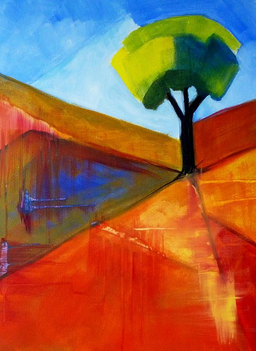 Not Alone Abstract Landscape Painting by Nancy Merkle; Original and Fine Art Reproductions for sale