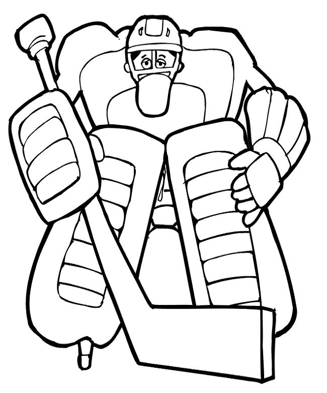 hockey goalie coloring pages - Hockey Coloring Pages