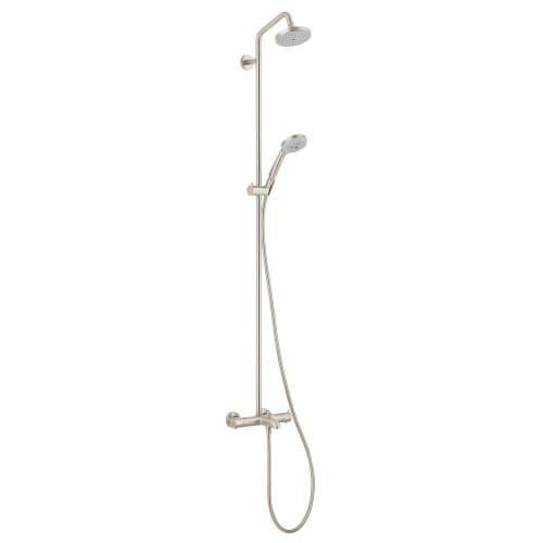 Hansgrohe 27143 Croma Green Showerpipe Shower System with Tub Spout, Multi-Function Hand Shower, 63 Hose, and Shower Head - Eco (