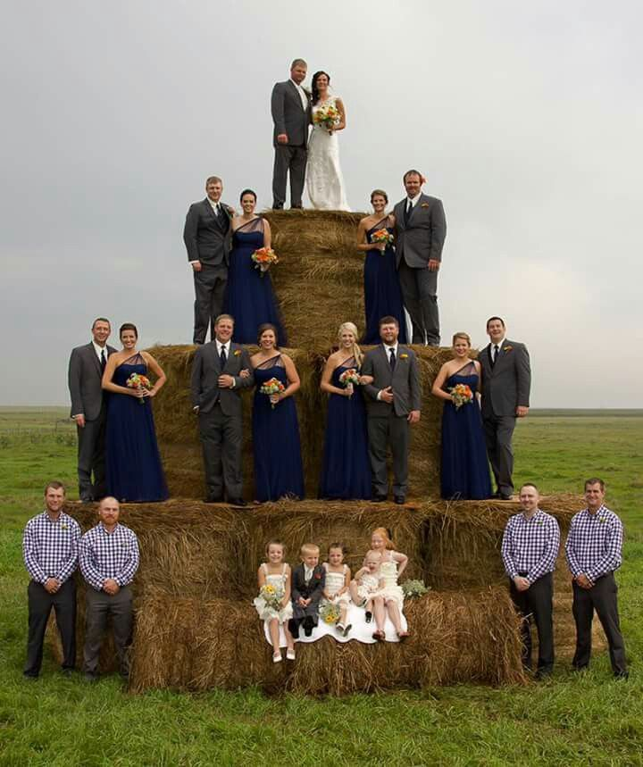 This is a neat and different way to take a picture of the bridal party