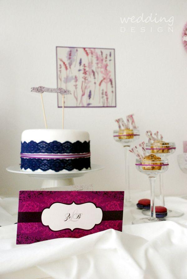 tematikus het menyasszonyi torta koszonoajandek eskuvoi torta eskuvoi meghivok eskuvoi dekoracio eskuvo , tortadísz lila tematikus hét lila esküvő levendula cake toppers