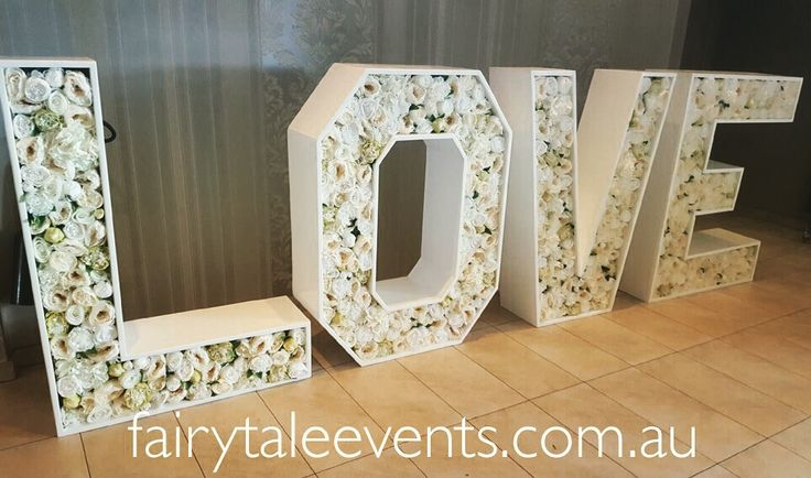 Giant floral LOVE sign available for hire Sydney Central Coast and  Hunter