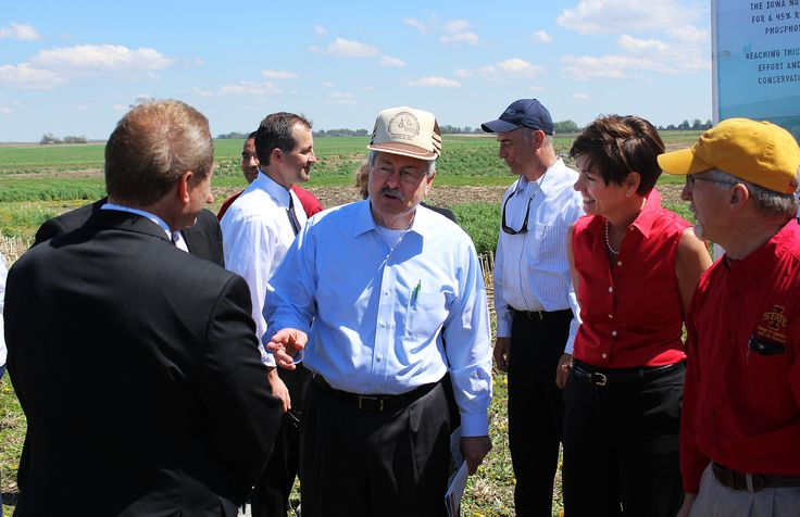 Gov terry branstad made two stops in ames on monday
